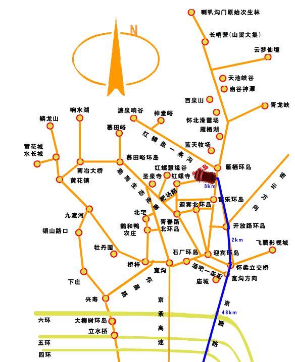 生存岛新概念旅游基地行车线路
