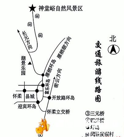 怀柔神堂峪景区地图