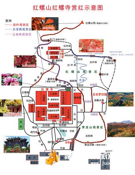 北京怀柔旅游地图内容|北京怀柔旅游地图版面设计
